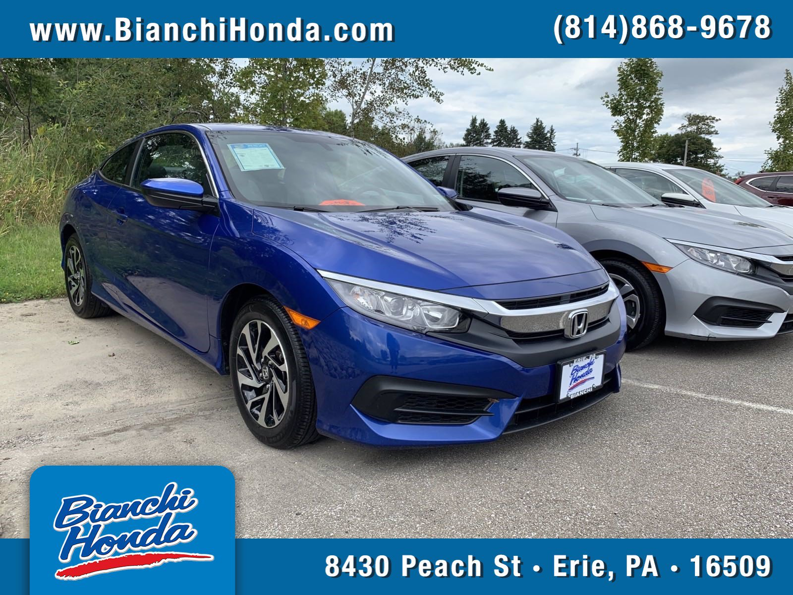 Certified Pre-Owned 2018 Honda Civic Coupe LX-P