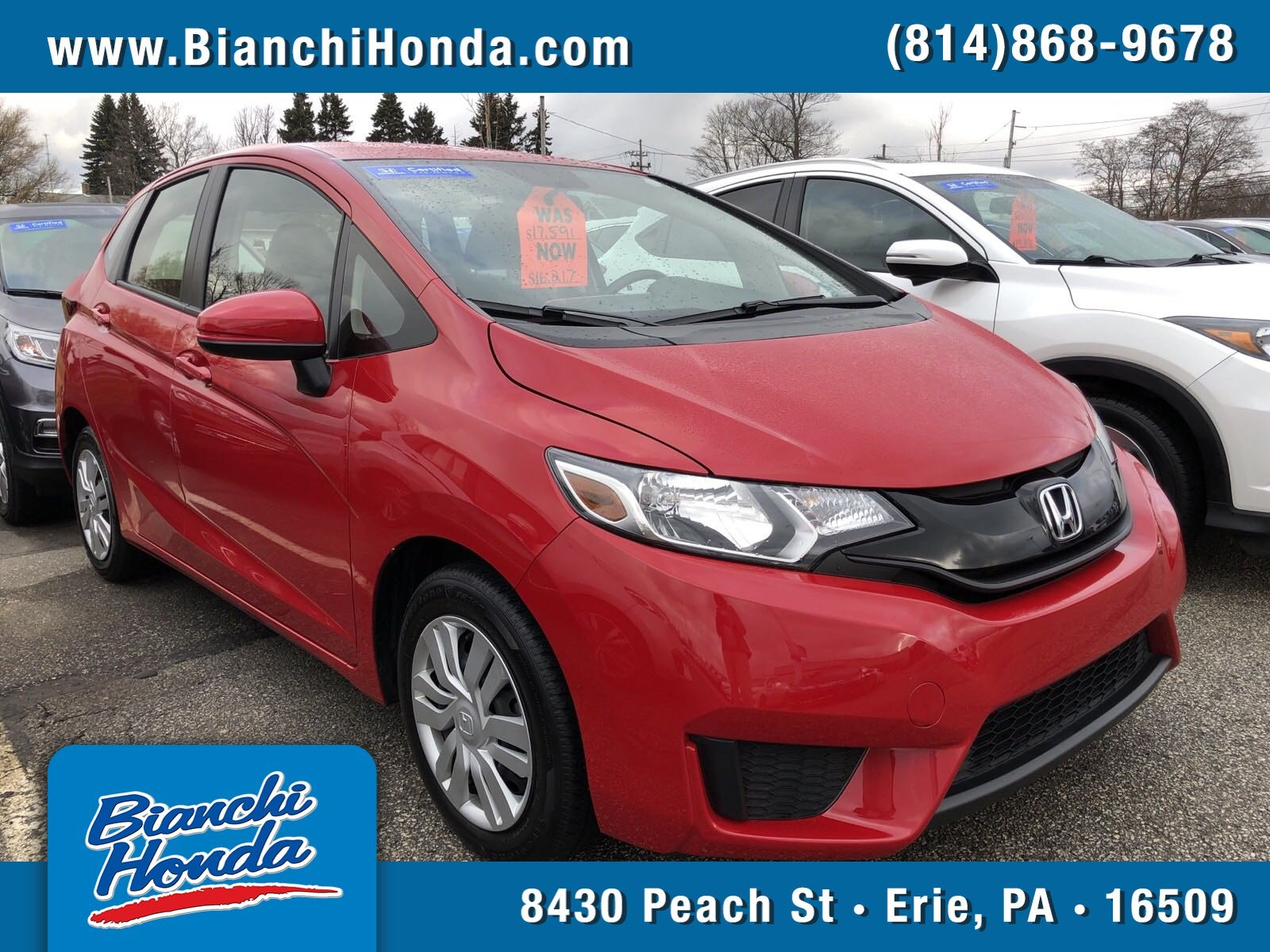 Certified Pre Owned 2017 Honda Fit Lx Hatchback In Erie P111890 Bianchi